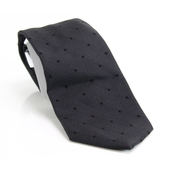99534cd5362d Shop Calvin Klein NEW Black Men's Woven Polka Dot Silk Neck Tie Accessory -  Free Shipping On Orders Over $45 - Overstock - 21208620