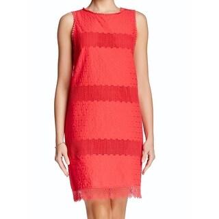 Max Studio NEW Pink Women's Size Small S Crochet Knit Shift Dress