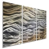 Statements2000 Silver/Gold Contemporary Metal Wall Art Panels by Jon Allen - Positivity