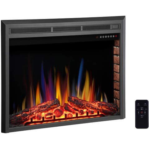 Recessed Freestanding 39-inch Electric Fireplace Insert