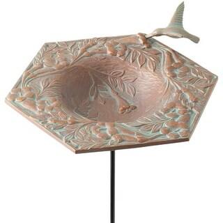 Whitehall Products, Hummingbird Aluminum Garden Bird Feeder 30061, 16.5 inches h - Copper