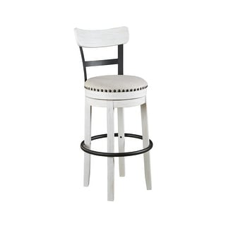 Link to Valebeck White Bar-height Swivel Bar Stool Similar Items in Dining Room & Bar Furniture