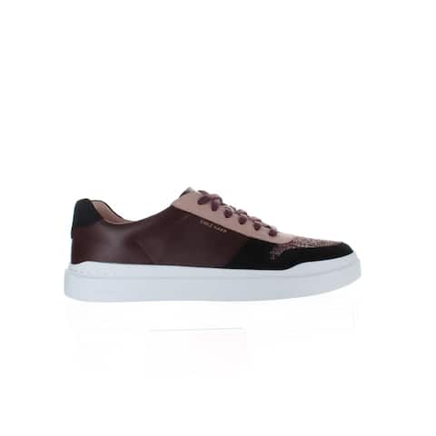 Cole Haan Womens Grandpro Rallly Burgundy Fashion Sneaker Size 10.5