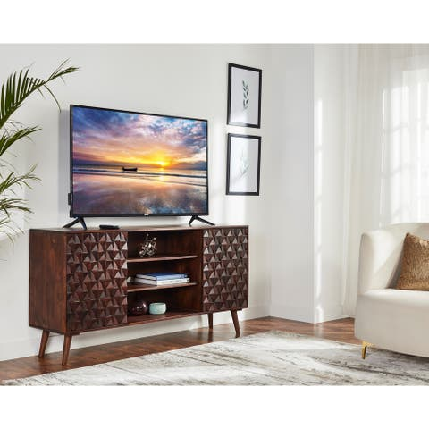 """Surface TV Stand Fits TV's up to 75"""" Mid Century Modern TV Stand 65""""wide"""