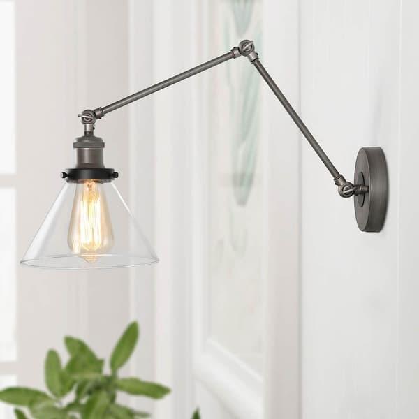 Aurora Glass// Metal 20w Modern Wall Light.