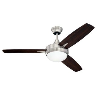"Craftmade TG483 Targas 48"" 3 Blade AC Motor Indoor Ceiling Fans with Light Kit Included"