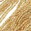 Czech Tri-Cut Seed Beads 10/0 'Gold Premium' (1 Strand/360 Beads) - Thumbnail 0