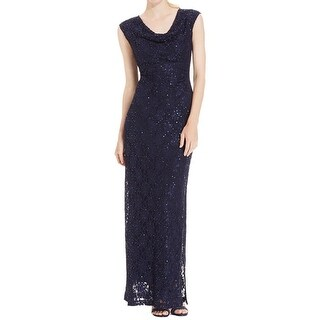 Connected Apparel Womens Evening Dress Lace Sequined