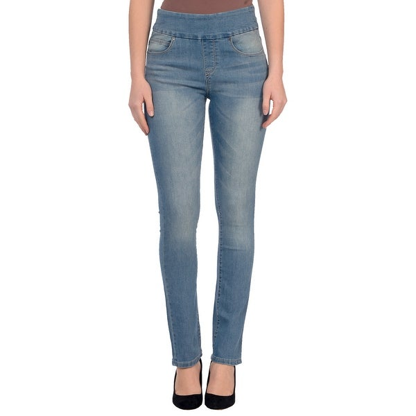 Lola Jeans Rebeccah-MLB, High Rise Pull On Straight Leg With 4-Way Stretch