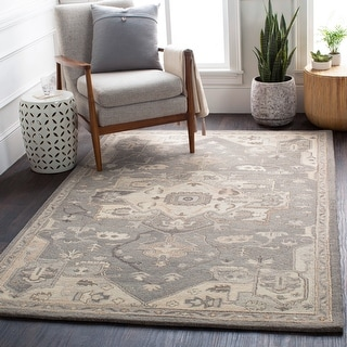 Link to Misty Handmade Traditional Medallion Wool Area Rug Similar Items in Rugs
