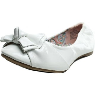 Steve Madden Darling Women Round Toe Synthetic White Flats