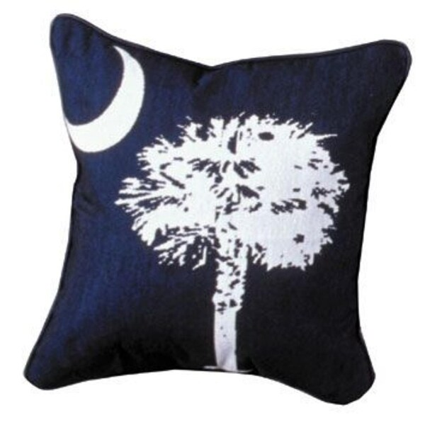 "South Carolina Palmetto State Flag Decorative Throw Pillow 17"" x 17"""