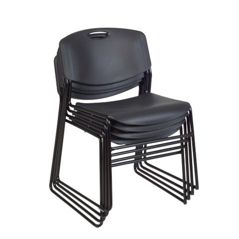 Zeal Stack Chair (4 pack)- Black