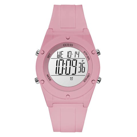 Guess Women's Digi Pop U1282L4 Pink Silicone Quartz Fashion Watch