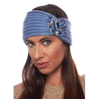 Crystal Blossom Angora Winter Headband