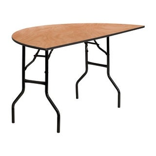 Offex 60'' Half-Round Wood Folding Banquet Table [OF-YT-WHRFT60-HF-GG]