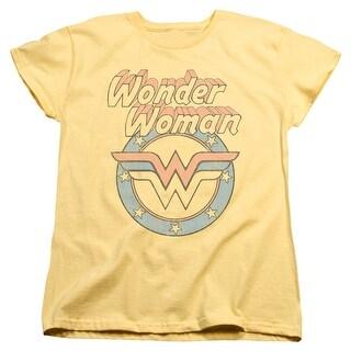 DC Comics Faded Wonder Womens Short Sleeve Shirt