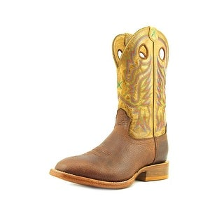 "Twisted X Stockman 11"" Men Round Toe Leather Brown Western Boot"