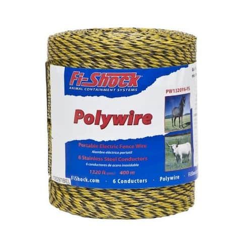Fi-Shock PW1320Y6-FS Electric Fence Poly Wire, 1320'