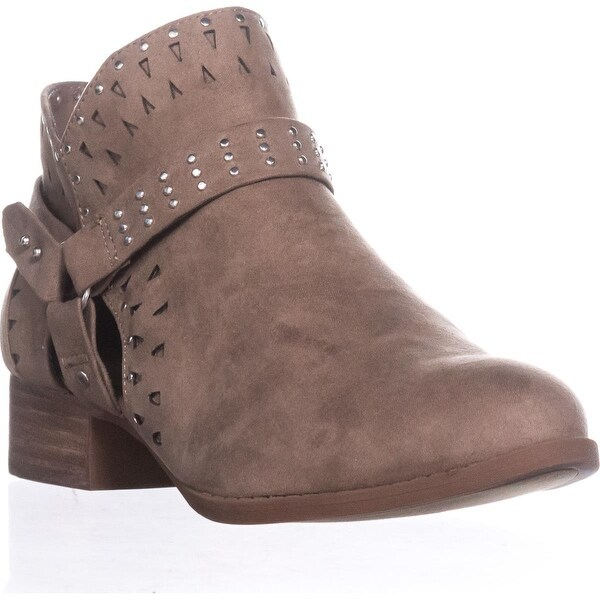madden girl Ariizona Side-Zip Ankle Booties, Taupe - 8.5 us