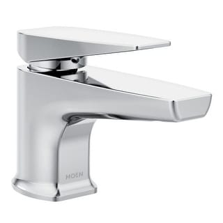 Moen S8001 Via Single Hole Bathroom Faucet with Metal Pop-up Drain Assembly