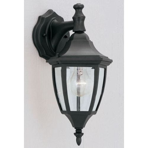 "Designers Fountain 2461-BK 1 Light 7"" Cast Aluminum Wall Lantern"
