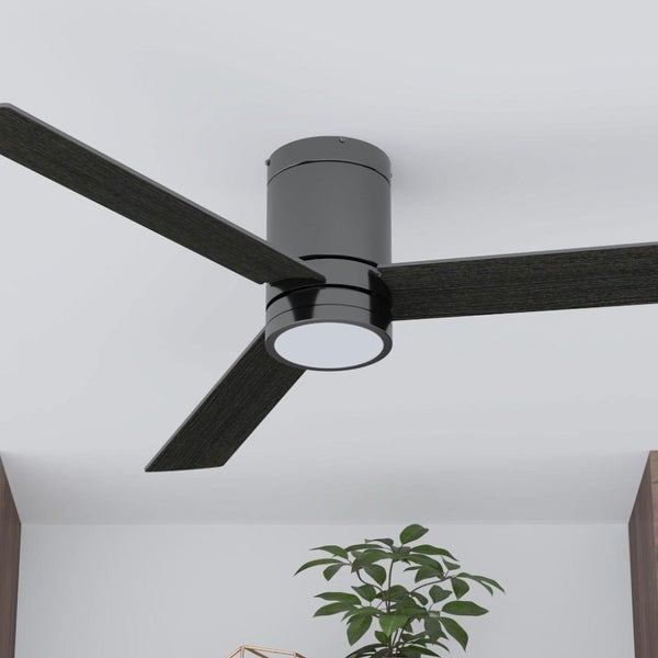 """52"""" Prominence Home Espy Modern Hugger/Low Profile Ceiling Fan with Remote, Gun Metal - 52. Opens flyout."""