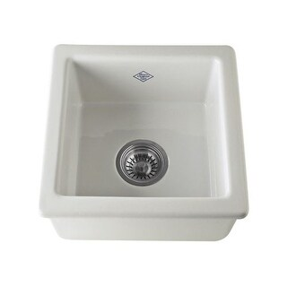"Rohl RC1515 Shaws Original 11-3/4"" Single Basin Undermount or Drop-in Fireclay K"