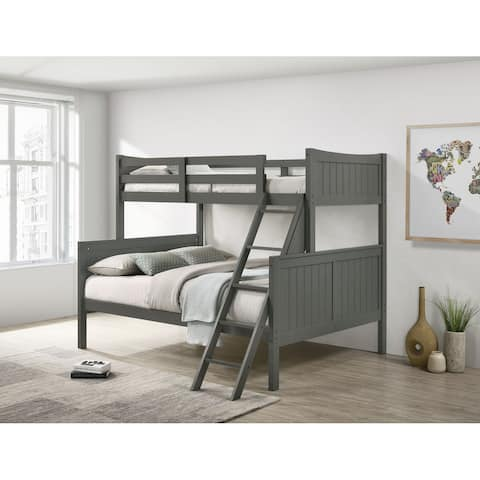 Picket House Furnishings Santino Twin Over Full Bunk Bed Grey