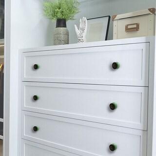 Ceramic Knobs Vintage Drawer Handle Cupboard Wardrobe Accessories 4pcs Green