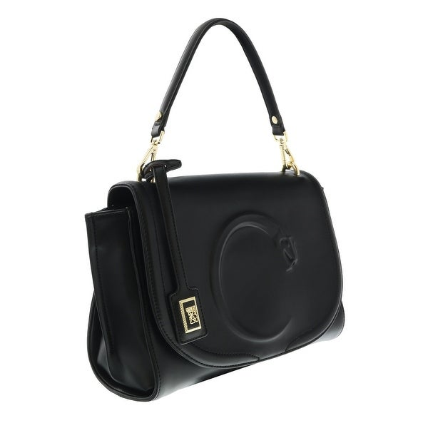 f4da52540 Shop Roberto Cavalli HXLPAK 999 Black Shoulder Bag - 10.5-8-4.5 ...