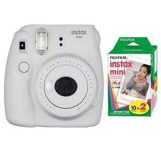 Fujifilm Instax Mini 9 (Smokey White) with Instax Mini Film (20 Sheets)