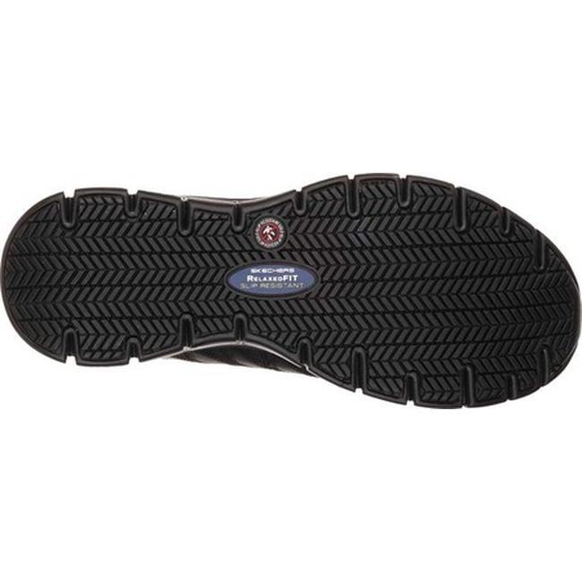Skechers Women's Work Relaxed Fit Sure Track Erath Slip Resistant Black