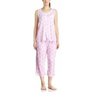 Body Touch Women's Pink Tank Top & Capri Pajama Set
