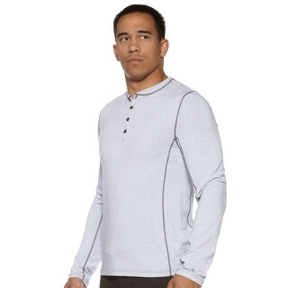 Jaco The Henley Long Sleeve Shirt - Moonlight
