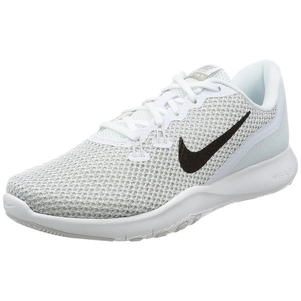 0c1215e1df4e6 Nike Women  x27 s Flex Trainer 7 White Metallic Silver Training Shoe Women