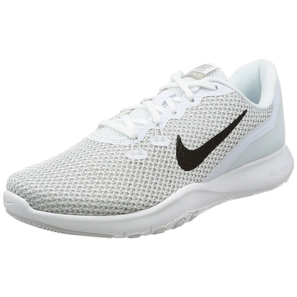 Nike Womens Flex Trainer 7 White/Metallic Silver Shoes Sizes 6.57995 & 11