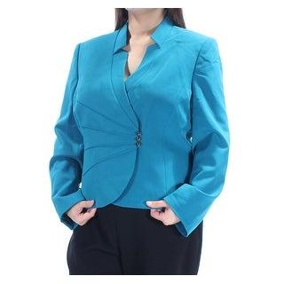 TAHARI Womens New 1166 Blue Blazer Wear To Work Jacket 18 B+B