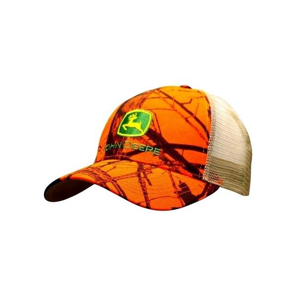 Shop John Deere Western Hat Mens Blaze Mesh Solid OS Hi Vis Orange 13080350  - Free Shipping On Orders Over  45 - Overstock - 19389842 bbb748bb097