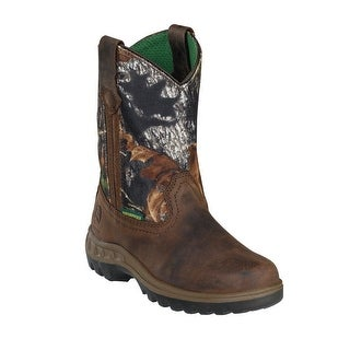 John Deere Boys Girls Camo Top Leather Toddler Boots 8.5-10.5