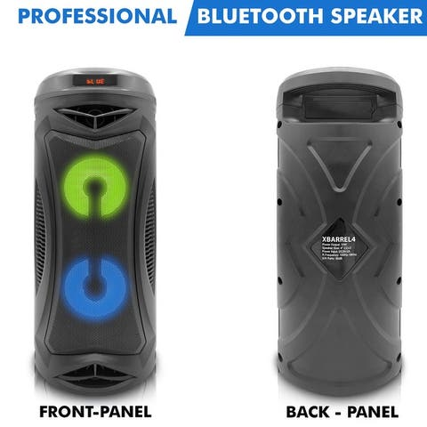 Technical Pro Rechargeable Professional Bluetooth Speaker with Color Changing LED, 30 Feet Range, Dustproof Enclosure