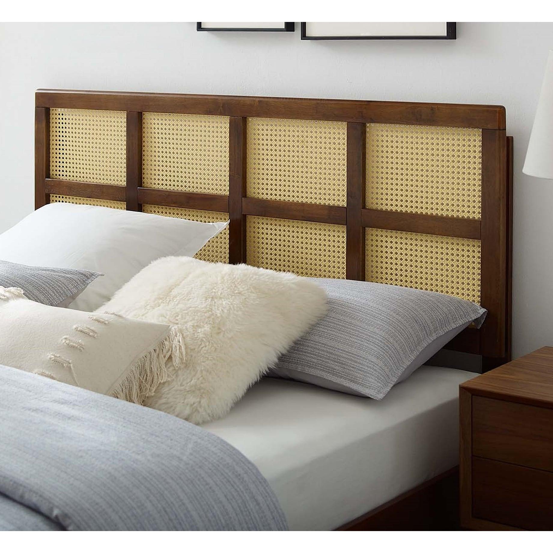 Ramona Modern King Size Walnut Wooden Headboard Overstock 32883096