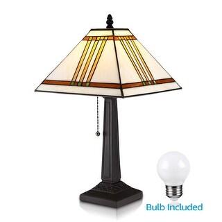 Tiffany Style LED Table Lamp Vintage Desk Light, G45 E26 Bulb Included