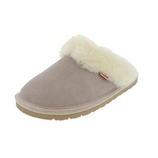 Tamarac by Slippers International Womens Fluff Suede Shearling Slide Slippers