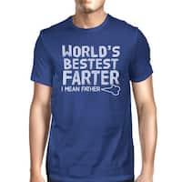 World's Bestest Farter Men's Blue Unique Design Graphic T-Shirt