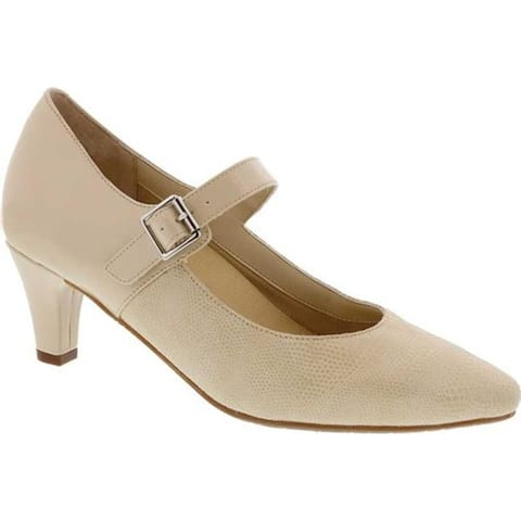 Ros Hommerson Women's Kiki Mary Jane Nude Lizard Leather