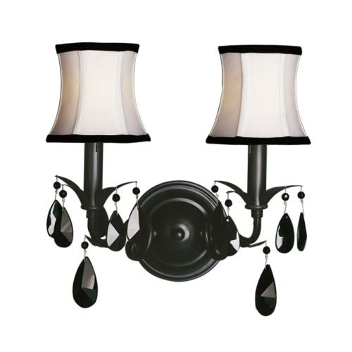 Woodbridge Lighting 42034-BLK 2 Light Up Light Wall Sconce from the Avigneau Collection - Black