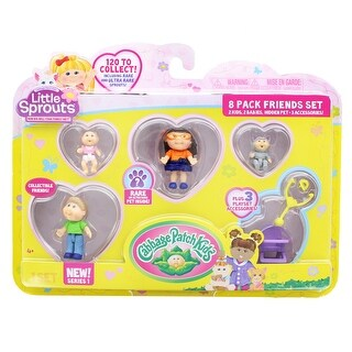 Little Sprouts 8-Pack Friends Set w/ Quinn Sofia & Kevin Matthew - multi
