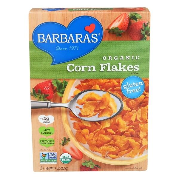 Barbara's Bakery Corn Flakes - Fruit Juice Sweetened - Case of 6 - 9 oz.