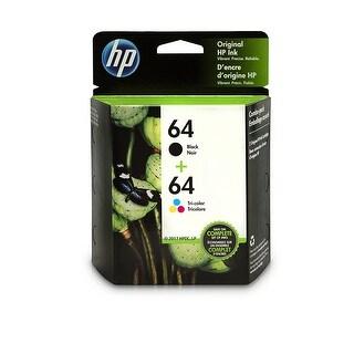 HP 64 Black & Tri-Color Original Ink Cartridges, 2 Cartridges (N9J90AN, N9J89AN)